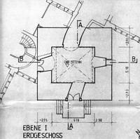 Hexenturm, Ebene I, EG, Urheber: Rehm, Gerhard (Freier Architekt) / Hexenturm in 69117 Heidelberg-Altstadt