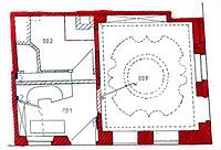 Wohn- und Geschäftshaus, Grundriss EG,  Urheber: Reck, Hans-Hermann (Büro für Bauhistorische Gutachten) / Wohn- und Geschäftshaus in 69117 Heidelberg-Altstadt
