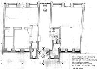 Palais Neukirch, Grundriss EG,  Urheber: Universitätsbauamt Heidelberg / Palais Neukirch in 69117 Heidelberg-Altstadt