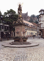 Kornmarkt-Madonna, Ansicht von Nordwesten,  Urheber: Projektgruppe Kornmarkt (Heidelberg, Stadtverwaltung) / Kornmarkt Madonna  in Heidelberg-Altstadt