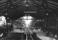 Bergbahn, Station Molkenkur, Einstiegshalle von 1906, Innenbereich, Blick nach Norden, Urheber: Regierungspräsidium Karlsruhe, RPK, Ref. 26 / Bergbahn in Heidelberg, Altstadt