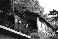 Bergbahn, Station Molkenkur, Einstiegshalle von 1906, Ansicht von Nordwesten, Urheber: Regierungspräsidium Karlsruhe, RPK, Ref. 26 / Bergbahn in Heidelberg, Altstadt
