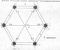 Rodensteiner Türmchen, Grundriss, OG Urheber: Vogeley, Jürgen (Architekt) / Rodensteiner Türmchen in 69117 Heidelberg-Altstadt