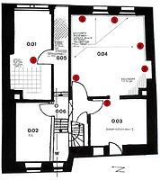 Wohnhaus, Grundriss, EG Urheber: Knoch, Peter (Bauforschung - Bauaufmaße - Dokumentationen) / Wohnhaus in 69117 Heidelberg-Altstadt