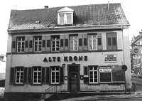"""Gasthaus """"Alte Krone"""", Ansicht von Osten, Urheber: Regierungspräsidium Karlsruhe, RPK, Ref. 26 / Gasthaus """"Alte Krone"""" in 69120 Heidelberg-Neuenheim"""