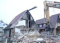 Während des Abbruchs (2007), Ansicht NW Quelle: Dr. S. Frommer / S. Harding / T. Marstaller / Fachwerkhaus in 71088 Holzgerlingen