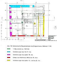 ehem. Rathaus, Systematischer Bauperiodenplan, EG, Urheber: Reck, Hans-Hermann (Büro für Bauhistorische Gutachten)  / Ehem. Rathaus in 74924 Neckarbischofsheim