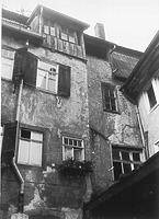 Mosbach, Hauptstraße 26, Wohnhaus, Hofseite, aufgen. 10/1984 Quelle: Bildarchiv Foto Marburg / Wohn- und Geschäftshaus in 74821 Mosbach