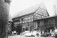 Mosbach, altes Hospital, Innehof, 15. Jahrhundert, Umbau 1521, aufgen. 1979 Quelle: Bildarchiv Foto Marburg / Altes Hospital in 74821 Mosbach