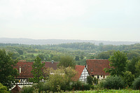 Blick auf das FLM Beuren gen NNO / Freilichtmuseum Beuren in 72660 Beuren (02.09.2011 - Becker_priv)