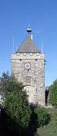 Pliensauturm, Südansicht  (Foto: Karlheinz Woschée, September 2005) / Pliensauturm in 73728 Esslingen am Neckar, Pliensauvorstadt