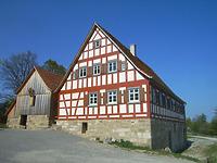 Die Mahl- und Sägemühle aus Weipertshofen im Hohenloher Freilandmuseum, Aufnahme 2010 / Mühle Laun in 74597 Stimpfach-Weipertshofen
