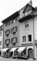 Ostansicht Hauptstraße 60 (rechts)  / Wohn- und Geschäftshaus in 79219 Staufen, Staufen im Breisgau (Stadtarchiv Staufen)