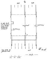 Systemskizze Grundriss 1. Dachgeschoss / Wohnhaus Hauptstr. 62 in 79219 Staufen, Staufen im Breisgau (01.05.1988 - Burghard Lohrum)