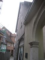 Südgiebel und Hoftor / Scheune des Nürtinger Pfleghofs in 72764 Reutlingen (14.09.2010 - Architekturbüro Kautt, Reutlingen)