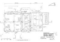 Grundriss Erdgeschoss (Lohrum/Bleyer, 1989), M 1:50 / Bauernhaus aus Aichelau (Hofanlage Aichelau, Hauptbau) in 72539 Aichelau (02.01.1989 - Ingenieurbüro für Hausforschung, Datierung und Bauaufnahme Burghard Lohrum und Hans-Jürgen Bleyer)