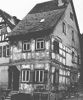 Zustand 1987 / Wohnhaus in 74523 Schwäbisch Hall (01.01.1987 - Albrecht Bedal (StadtA SHA Sever Häuserlexikon))