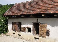 Schweinestall im FLM Beuren / Schweinestall aus Ehningen in 71139 Ehningen (http://www.freilichtmuseum-beuren.de/museum/rundgang/schweinestall-aus-ehningen/)