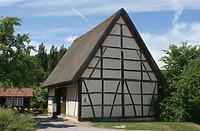 Ansicht der Scheuer im FLM Beuren / Scheuer aus Gärtringen in 71116 Gärtringen (http://www.freilichtmuseum-beuren.de/museum/rundgang/scheuer-aus-gaertringen/)