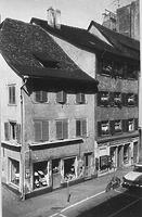 Straßenansicht Hussenstraße Ecke Hieronymusgasse / Wohnhaus in 78426 Konstanz (Bildindex Foto Marburg (LDA Freiburg, Foto 31/69))
