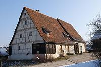 Wohn-Stall-Haus mit Scheuer im FLM Beuren / Dosterhaus, Wohnstallhaus mit Scheuer aus Beuren in 72660 Beuren (http://www.freilichtmuseum-beuren.de/museum/rundgang/wohn-stall-haus-mit-scheuer-aus-beuren/)