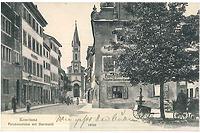 Paradiesstraße, Blick vom ehemaligen Obermarkt. / Wohnhaus in 78426 Konstanz (15.12.2014 - Zur Verfügung gestellt duch Untere Denkmalschutzbehörde Konstanz.)