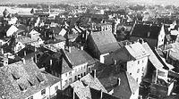 Blick von St. Stephan auf die Häuser zwischen Wessenbergstraße und Marktstätte (ca. 1964) / Wohnhaus in 78426 Konstanz (LDA Freiburg, Foto 103/58, in: Bildindex Foto Marburg)
