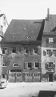 Ansicht von Norden; rechts Nordfassade (Ausschnitt) Haus Nr. 4 in der Brotlaube  / Wohnhaus in 78426 Konstanz (Bildindex Foto Marburg: LDA Freiburg, Foto 82/52, Rettich/Konstanz)