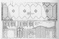 Westansicht/Eingangsfassade; M 1:100 (Feldmeier 1987) / Steinmetzhaus aus Wangen in 73117 Wangen (25.11.1987 - Bauaufnahme 1987 (Büro Gromer).)