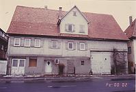 Ansicht 1987 / Wohn- und Wirtschaftsgebäude aus Frickenhausen in 72636 Frickenhausen (06.02.1987 - Maurer)