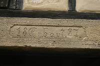 """Inschrift im Türsturz (""""18Erbaut87"""") / Backhaus aus Esslingen-Sulzgries in 73733 Sulzgries (02.09.2011 - Becker_priv)"""