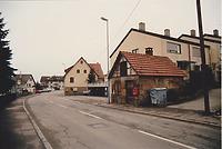 Kelterstraße in Sulzgries mit Backhaus (1989) / Backhaus aus Esslingen-Sulzgries in 73733 Sulzgries (01.04.1989 - Kopper + Schenkel Architekten/Esslingen)