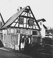 Wohnhaus vor Untersuchungsbeginn Mitte der 1980er Jahre / Wohnhaus aus Echterdingen in 70771 Echterdingen (27.11.1987 - Gromer, Bauhist. Untersuchung, 1987)