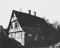 Wohnhaus noch in Echterdingen, Gesamtansicht von Nordosten (1987) / Wohnhaus aus Echterdingen in 70771 Echterdingen (27.11.1987 - Gromer, Bauhist. Untersuchung, 1987, Abb. 2)