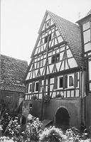 Giebel Hofraum (1973) / Fachwerkhaus in 75417 Mühlhausen, Mühlhausen an der Enz (Bildindex Foto Marbug; Neg. Nr. LDA KA 1541/29a)