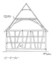 Querschnitt Scheune / Wohnhaus in 75443 Ötisheim (Lohrum)