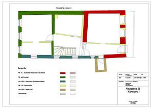 Grundriss OG1 Bauphasen / Wohnhaus in 78462 Konstanz (08.01.2015)