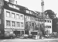 Marktstraße 36 während der Restaurierung (1984) / Wohnhaus in 88212 Ravensburg (01.01.1984 - Neg. Nr. LDA Tübingen 52359 (6x6); Aufnahme: Feist, Pliezhausen, 1984; Bildindex Foto Marburg)