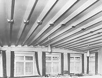 Zimmer mit gotischer Holzdecke (1976) / Wohnhaus in 88212 Ravensburg (05.03.1976 - Neg. Nr. LDA Tübingen 25754 (9x12) (Aufnahme: Bock, 1976, Oberopfingen))