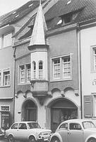 Sog. Humpishaus (Markstr. 45); Straßenfassade (um 1960/1970) / Wohnhaus in 88212 Ravensburg (05.03.1960 - LDA Tübingen (Aufnahme 1960/1970); Bildindex Foto Marburg)