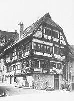 Humpishaus oder auch Neideggsches Haus an der Humpis- Ecke Roßbachstraße; Humpisstraße 5 (Aufnahme: 1. Hälfte 20. Jh.) / Humpis-Quartier in 88212 Ravensburg (Neg. Nr. LDA Stuttgart 303 (13x18); Bildindex Foto Marburg)
