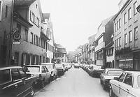Blick in die Untere Breite Straße (1984) / Fachwerkhaus in 88212 Ravensburg (01.01.1984 - Bildindex Foto Marburg; LDA Tübingen Stgt, IV/22)