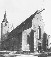Ansicht der Pfarrkirche St. Jodok von NW (1974) / St. Jodok in 88212 Ravensburg (20.06.1974 - Bildindex Foto Marburg; LDA Tübingen 17988, Aufnahme Bock, Oberopfingen)