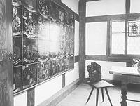 Fachwerk und Holzdecke, 15. Jh. (Datum unbekannt) / Vogthaus (Museum) in 88212 Ravensburg (Bildindex: LDA Tübingen; Aufnahme Hütter (Microfiche-Scan mi08764b06))