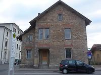 Ansicht gegen Osten (2012) / Dienstwohngebäude in 97980 Bad Mergentheim (16.04.2012 - haas + haas/Niederstetten)