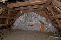 Westgiebel mit Abdruck/Baunaht des alten Dachstuhls an der Giebelscheibe (2012) / Rathaus in 88709  Meersburg (03.05.2012 - strebewerk (Stuttgart))