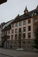Straßenfassade / Ehem. Hofanlage; Wohn- und Geschäftshaus in 78050 Villingen (08.01.2012 - Lohrum)