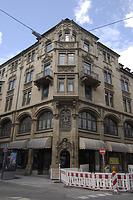 Ansicht Ecksituation Tübinger Straße/Sophienstraße (2011) / Wohn- und Geschäftshaus Tübinger Straße Ecke Sophienstraße in 70178 Stuttgart, Stuttgart-Mitte (09.08.2011 - strebewerk)