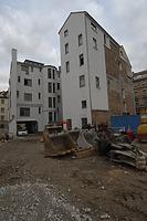 Blich nach Nordosten auf den Hinterhof bzw. die Südwestansicht / Wohn- und Geschäftshaus Tübinger Straße Ecke Sophienstraße in 70178 Stuttgart, Stuttgart-Mitte (20.10.2011 - Dia 0-00 (Außenansicht-SW (1)))