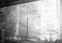 Abdruck des Vorgängerdaches an der westlichen Giebelscheibe im 1. DG (2012) / Wohn- und Geschäftshaus in 88709  Meersburg (S. Uhl, 2012)